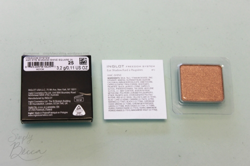 Inglot Freedom System Eyeshadow Packaging