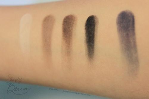 Inglot Eyeshadows. Left to Right: Matte 355, Matte 342, Matte 329, Matte 391, Matte 389
